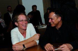 Martha Doll und Kameran Shwani bei Auftaktveranstaltung MORGEN